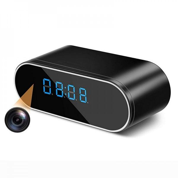 hidden spy camera clock